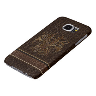 Boeket 1 van de leder-blik Dark Samsung Galaxy S6 Hoesje
