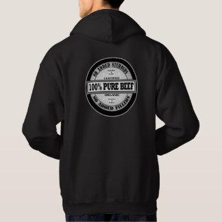 Boeuf pur de 100% veste à capuche