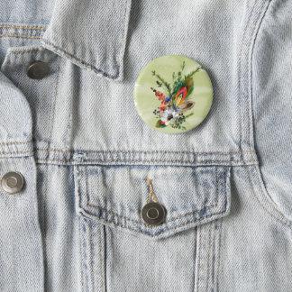 """Boho rustique """"boutonniere """" badge rond 5 cm"""