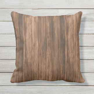 Bois rustique simple de fil de grange oreiller