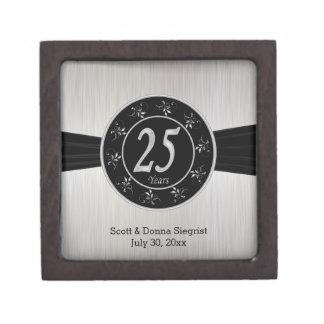 Boîte À Babioles De Première Qualité 25ème L'anniversaire de noces d'argent |