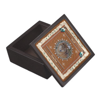 Boîte À Babioles De Première Qualité Loup - boîte-cadeau en bois de professeur