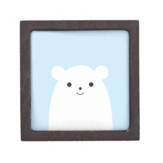 Boîte À Bijoux De Première Qualité Boîte-cadeau semi-transparente d'ours blanc