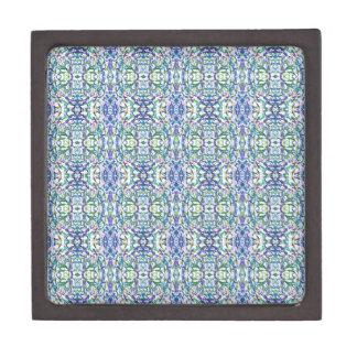 Boîte À Bijoux De Première Qualité Géométrique bleu et vert