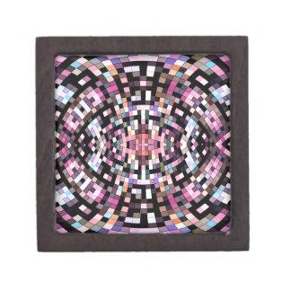 Boîte À Bijoux De Première Qualité Géométrique rose et noir Trippy