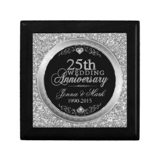 Boîte À Souvenirs 25ème Conception de parties scintillantes et