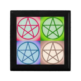 Boîte À Souvenirs 4 pentagones étoilés