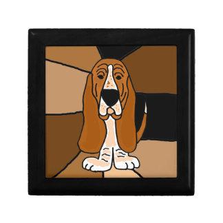 Boîte À Souvenirs Abrégé sur adorable art de chien de Basset Hound