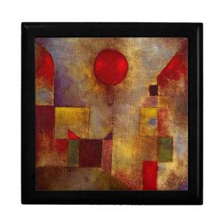 Boîte À Souvenirs Abrégé sur coloré ballon rouge de Paul Klee