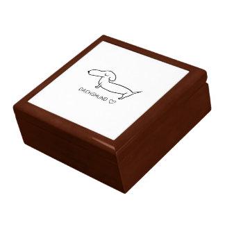 Boîte À Souvenirs Amour de teckel