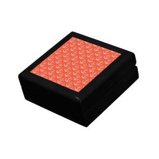 Boîte À Souvenirs Ancres nautiques dans le joli motif rose de corail