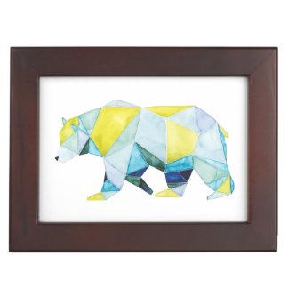 Boîte À Souvenirs Animal géométrique d'ours
