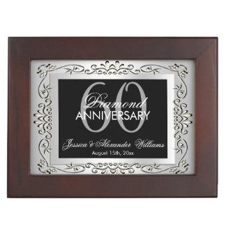 Boîte À Souvenirs Anniversaire de mariage décoratif élégant d'argent
