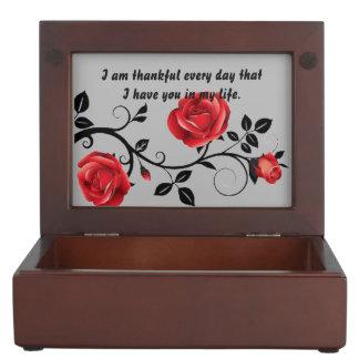 Boîte À Souvenirs Argent rose de célébration d'anniversaire