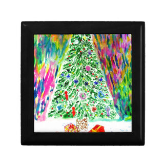 Boîte À Souvenirs Art d'arbre de Noël