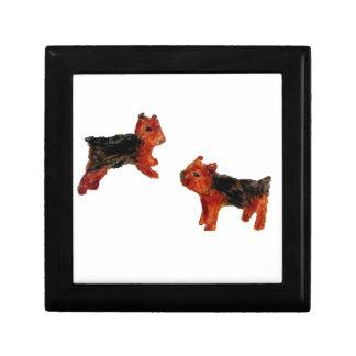 Boîte À Souvenirs Art de chien d'amusement de Terrier