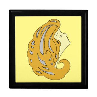 Boîte À Souvenirs Art moderne Nouveau, femme avec les longs cheveux