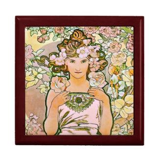 Boîte À Souvenirs Art rose Nouveau de demoiselle de honneur