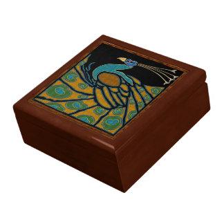 Boîte À Souvenirs Arts et paon de style de métiers