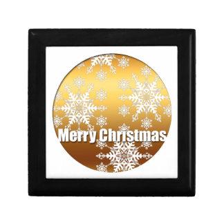 Boîte À Souvenirs Boîte-cadeau 3 de flocons de neige de Joyeux Noël