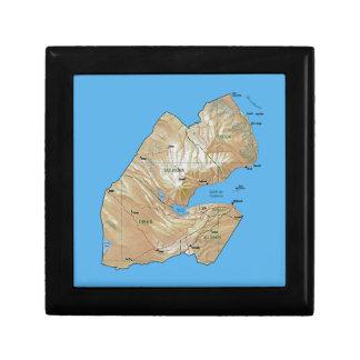 Boîte À Souvenirs Boîte-cadeau de carte de Djibouti