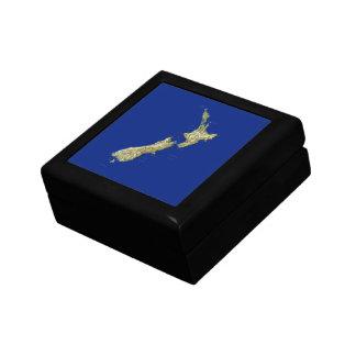 Boîte À Souvenirs Boîte-cadeau de carte de la Nouvelle Zélande
