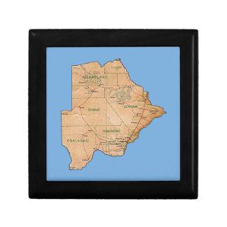 Boîte À Souvenirs Boîte-cadeau de carte du Botswana