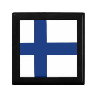 Boîte À Souvenirs Boîte-cadeau de drapeau de la Finlande