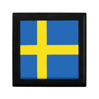 Boîte À Souvenirs Boîte-cadeau de drapeau de la Suède