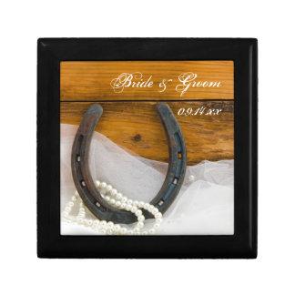 Boîte À Souvenirs Boîte-cadeau de fer à cheval et de mariage