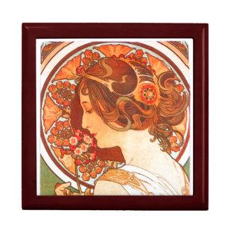 Boîte À Souvenirs Boîte-cadeau de Madame Floral de Nouveau Mucha
