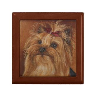 Boîte À Souvenirs Boîte-cadeau de peinture de chien de Yorkshire