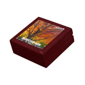 Boîte À Souvenirs Boîte-cadeau de recette de feuille d'automne
