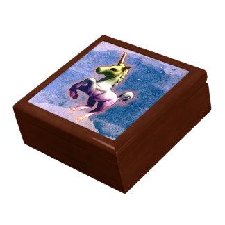 Boîte À Souvenirs Boîte-cadeau de souvenir de tuile de licorne (bleu
