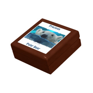 Boîte À Souvenirs Boîte-cadeau de tuile de photo d'ours blanc et