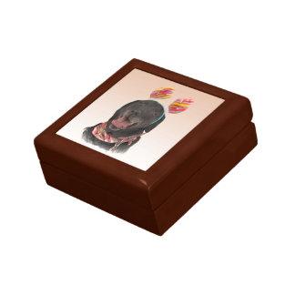 Boîte À Souvenirs Boîte-cadeau noire gaie de chien de labrador