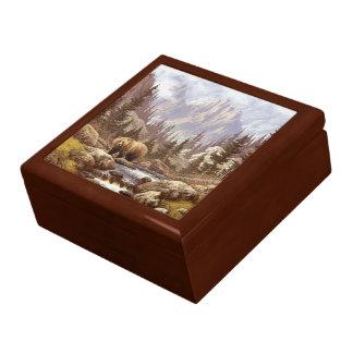 Boîte À Souvenirs Boîte de bibelot de paysage d'ours gris