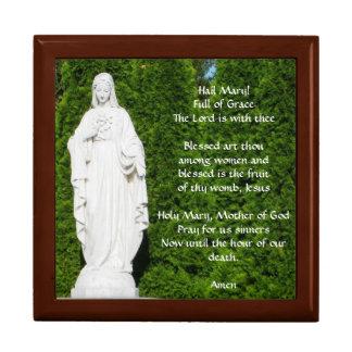 Boîte À Souvenirs Boîte de chapelet avec la prière de Mary de grêle