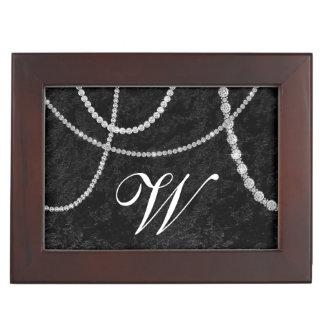 Boîte À Souvenirs Boîte de souvenir de velours de noir de fausse