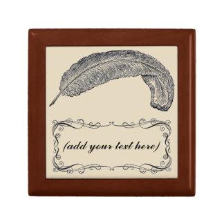 Boîte À Souvenirs boîte de souvenir personnalisée par plume élégante