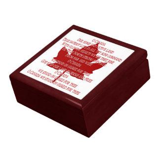 Boîte À Souvenirs Boîte du Canada de souvenir d'hymne du Canada de