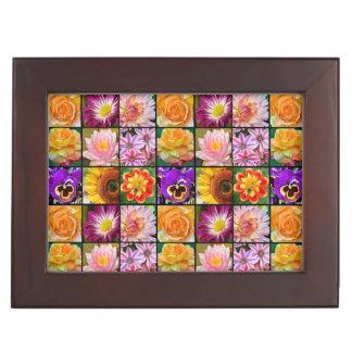 Boîte À Souvenirs Boîte florale colorée de souvenir d'impression de