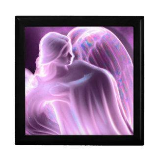 Boîte À Souvenirs Boîte rose majestueuse de souvenir d'ange