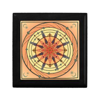 Boîte À Souvenirs Boîte vintage de carreau de céramique de Sun d'art