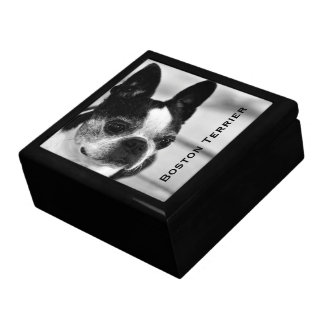 Boîte À Souvenirs Boston Terrier noir et blanc