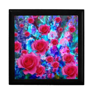 Boîte À Souvenirs Cadeaux FLORAUX BLEUS de ROSES ROSES