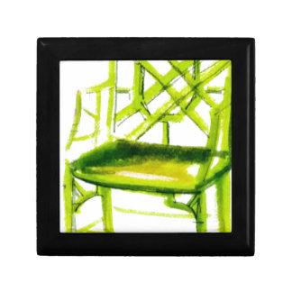 Boîte À Souvenirs chaise de chinoiserie pour la carte d'endroit