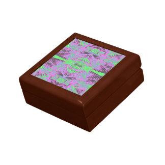 Boîte À Souvenirs Chêne d'or Sml de boîte-cadeau de fractale de la