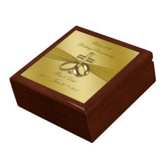 Boîte À Souvenirs Cinquantième boîte-cadeau d'or religieuse