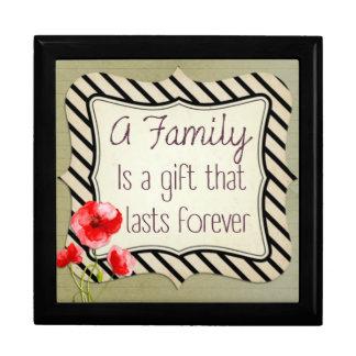 Boîte À Souvenirs Citation inspirée de famille